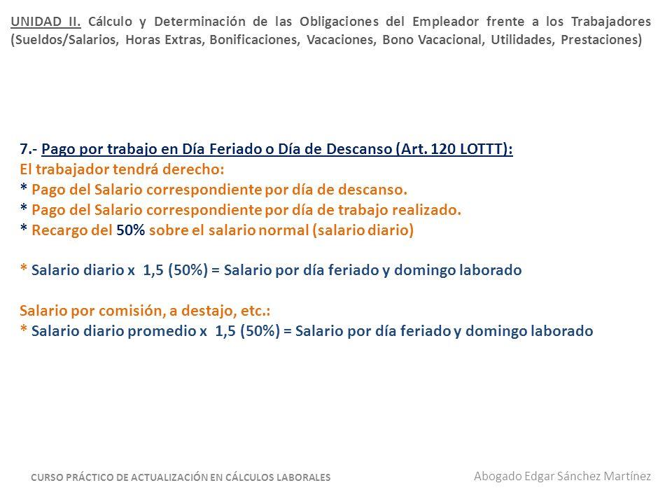 8.- Depósito de la garantía de las prestaciones sociales (Art.