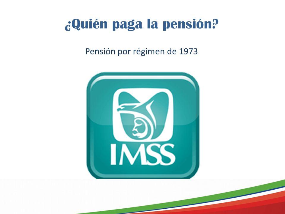 ¿Quién paga la pensión? Pensión por régimen de 1973