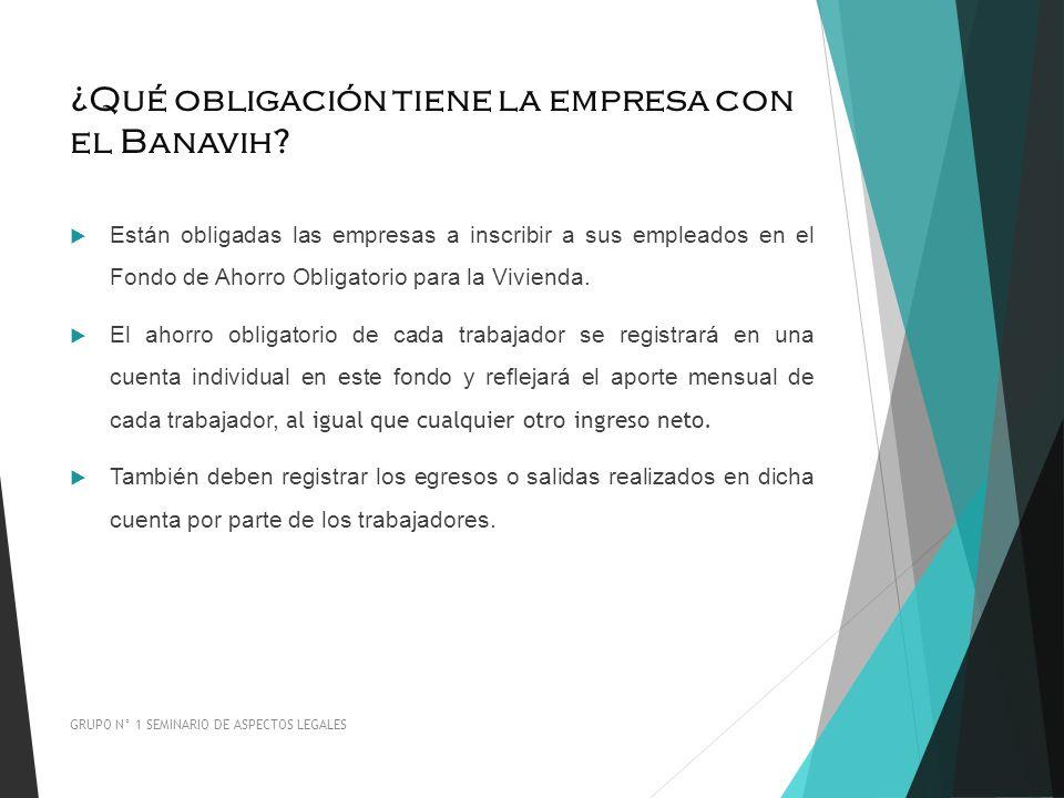 ¿Qué obligación tiene la empresa con el Banavih? Están obligadas las empresas a inscribir a sus empleados en el Fondo de Ahorro Obligatorio para la Vi