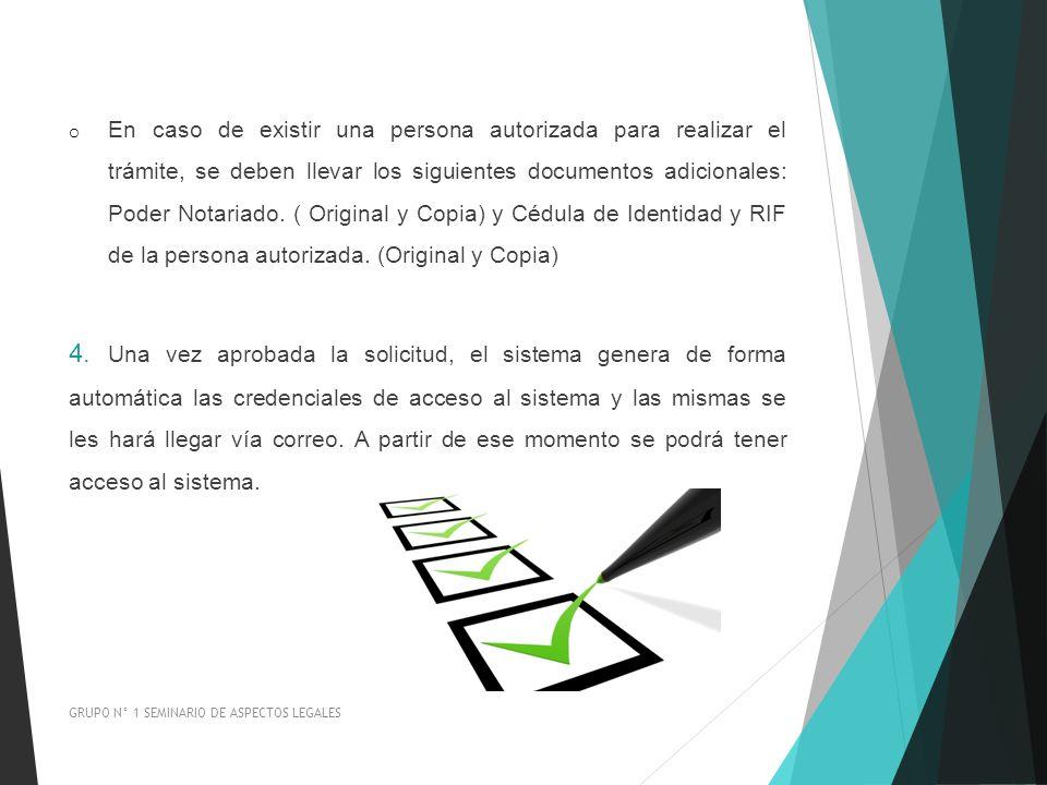 o En caso de existir una persona autorizada para realizar el trámite, se deben llevar los siguientes documentos adicionales: Poder Notariado. ( Origin