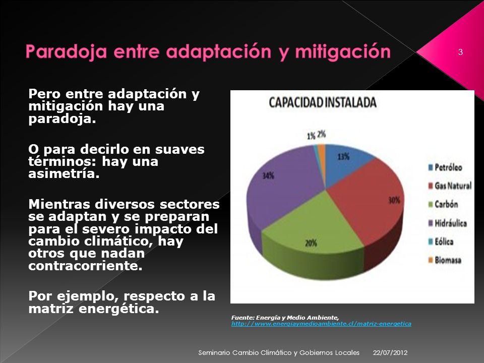 Pero entre adaptación y mitigación hay una paradoja.