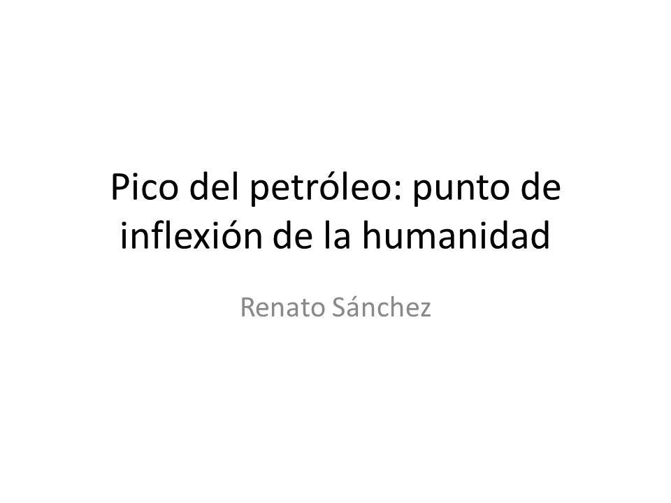 Pico del petróleo: punto de inflexión de la humanidad Renato Sánchez