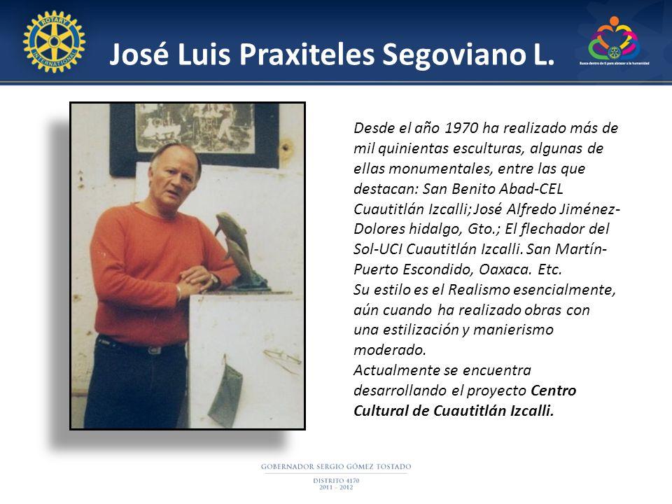 Desde el año 1970 ha realizado más de mil quinientas esculturas, algunas de ellas monumentales, entre las que destacan: San Benito Abad-CEL Cuautitlán Izcalli; José Alfredo Jiménez- Dolores hidalgo, Gto.; El flechador del Sol-UCI Cuautitlán Izcalli.
