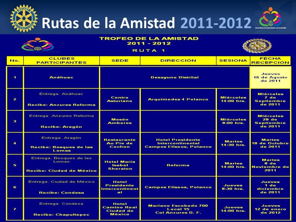 Rutas de la Amistad 2011-2012