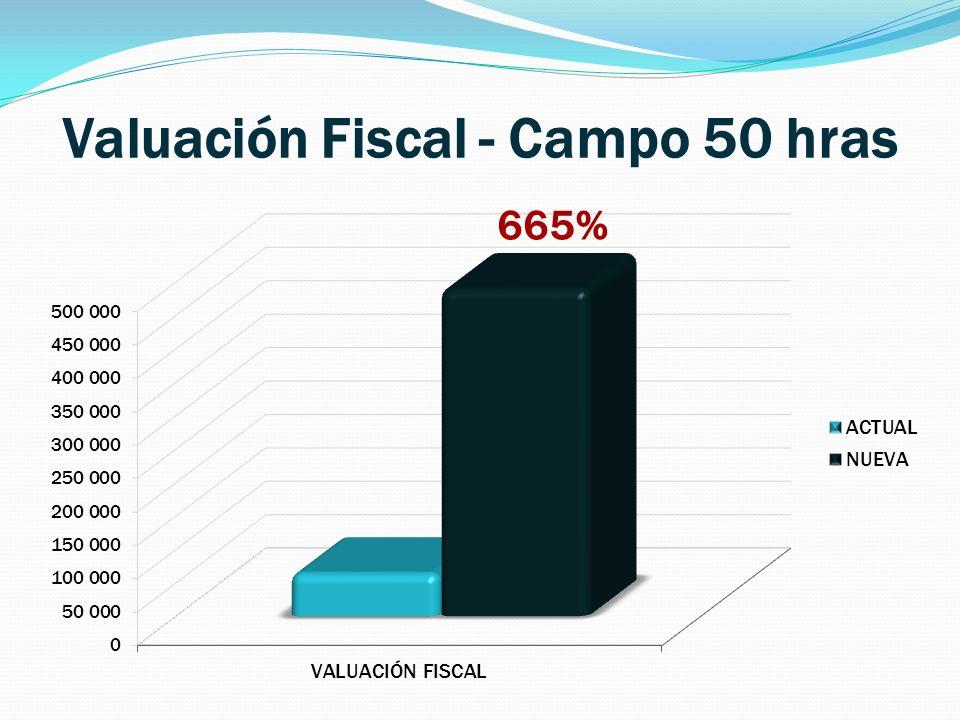 Valuación Fiscal - Campo 50 hras 665%