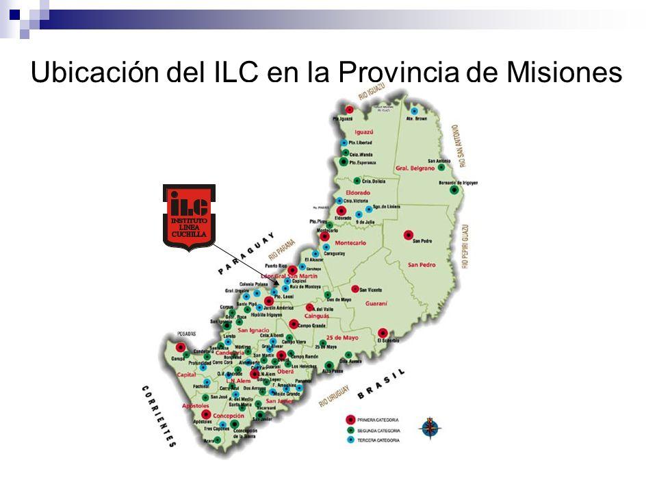 Ubicación del ILC en la Provincia de Misiones