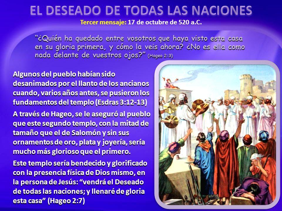 Meditad, pues, en vuestro corazón, desde este día en adelante, desde el día veinticuatro del noveno mes, desde el día que se echó el cimiento del templo de Jehová; meditad, pues, en vuestro corazón.