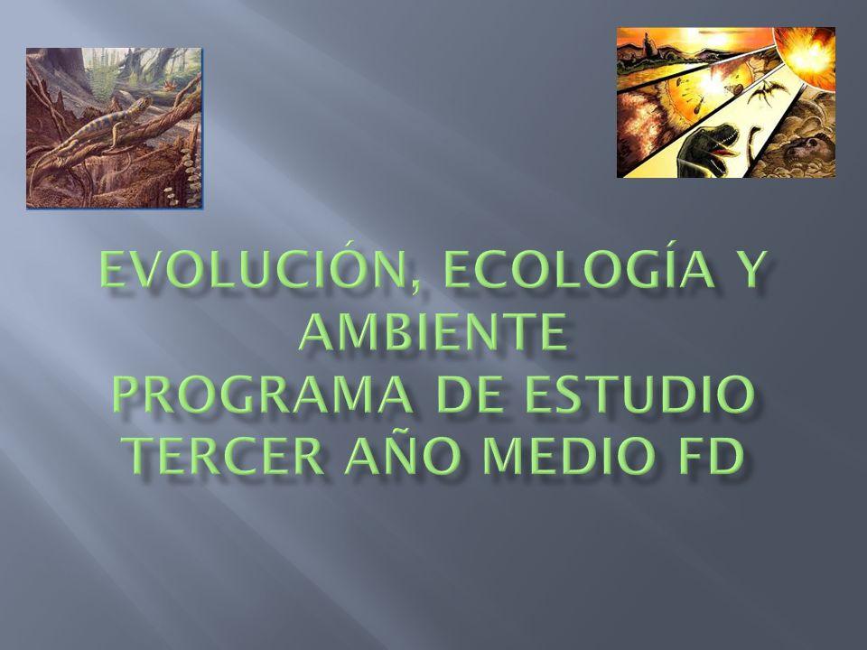 a) el origen de la vida y la evolución biológica, b) la evolución humana c)flujos de materia y energía, entre los seres vivos y el medio ambiente.