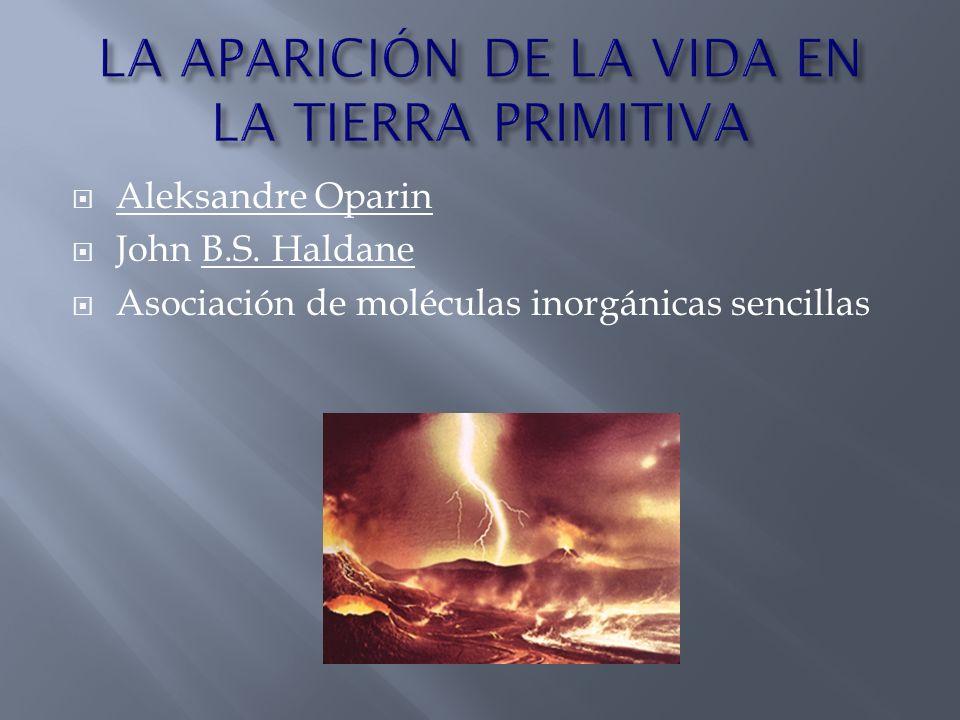 Aleksandre Oparin John B.S. Haldane Asociación de moléculas inorgánicas sencillas