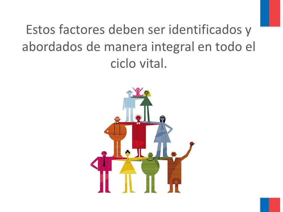 Estos factores deben ser identificados y abordados de manera integral en todo el ciclo vital.