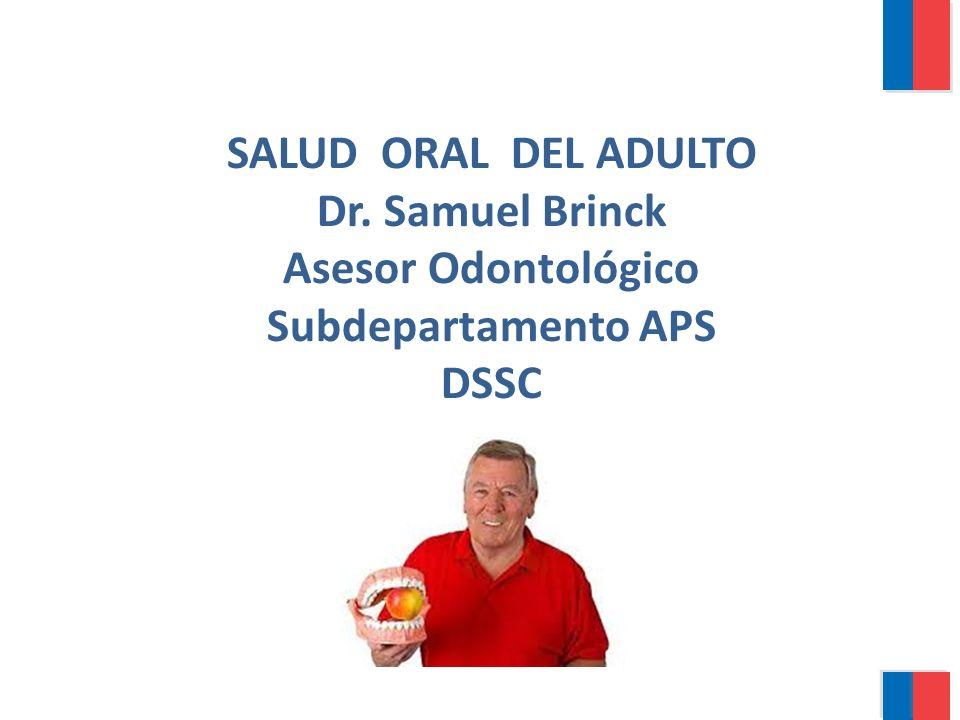 SALUD ORAL DEL ADULTO Dr. Samuel Brinck Asesor Odontológico Subdepartamento APS DSSC