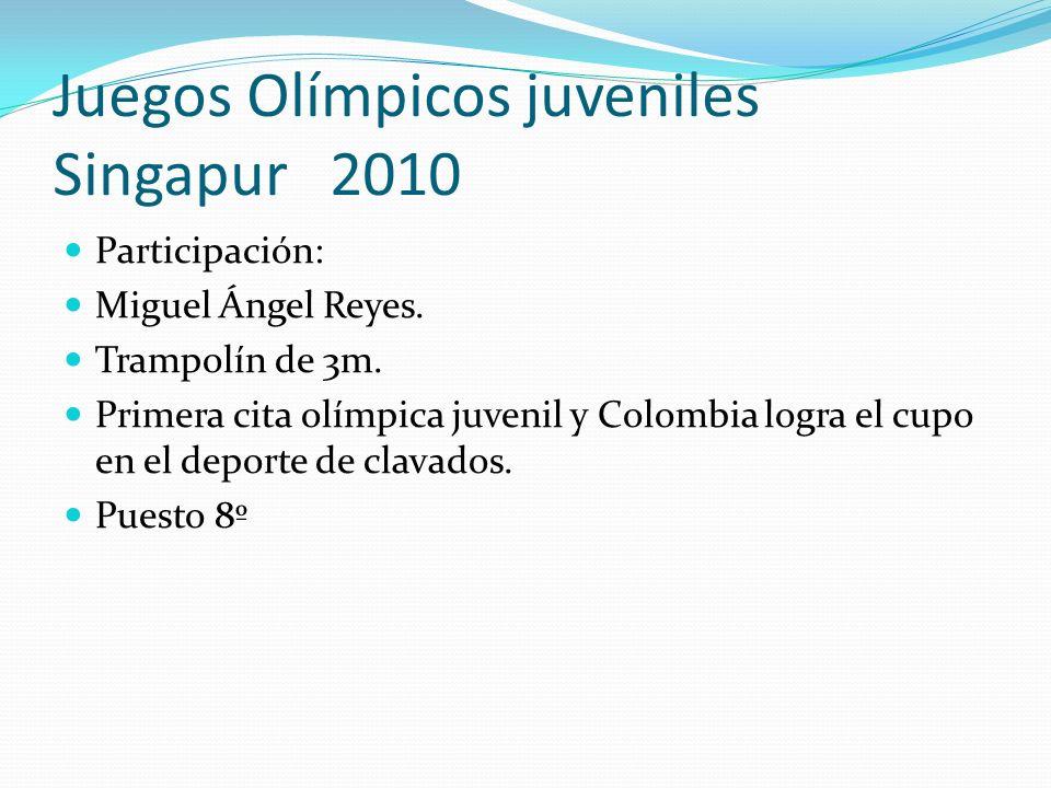 Juegos Olímpicos juveniles Singapur 2010 Participación: Miguel Ángel Reyes.