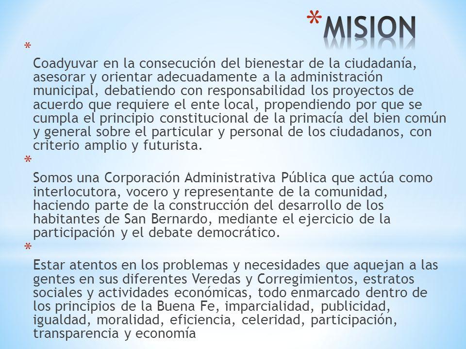 * La Corporación Municipal debe ser garante del desarrollo de políticas que estén a la altura de los compromisos que adquirió como ente coadministrador.