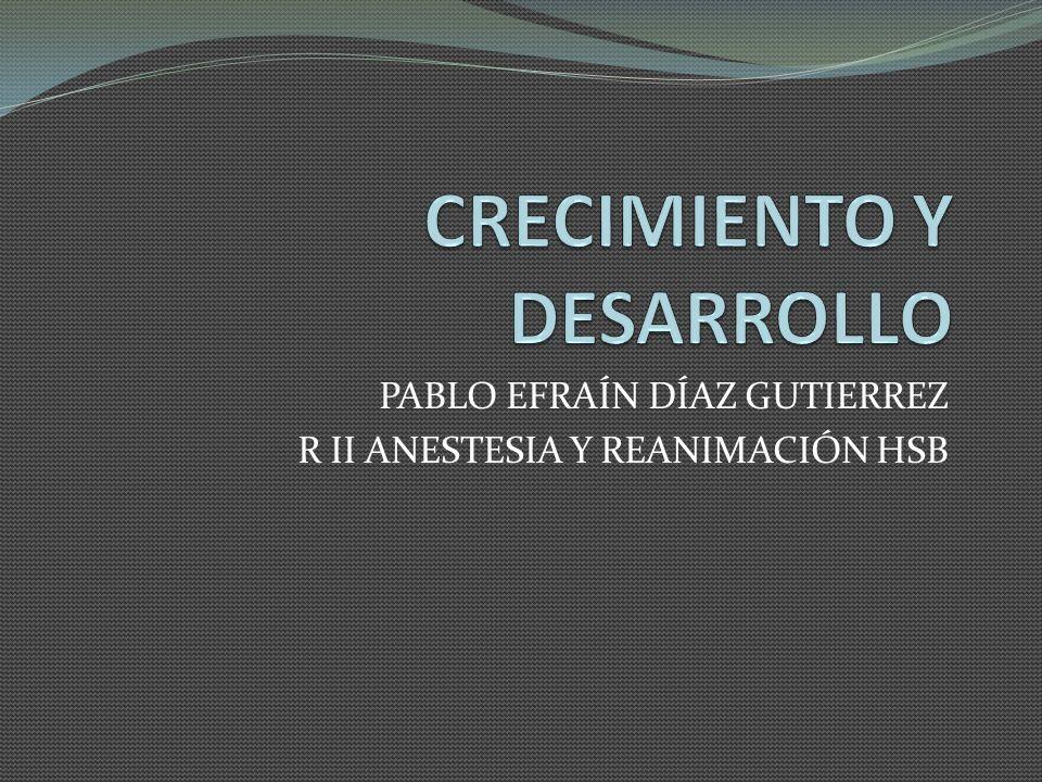 CRECIMIENTO Y DESARROLLO NORMAL Organogénesis: primeras 1 - 8 semanas de vida intrauterina.