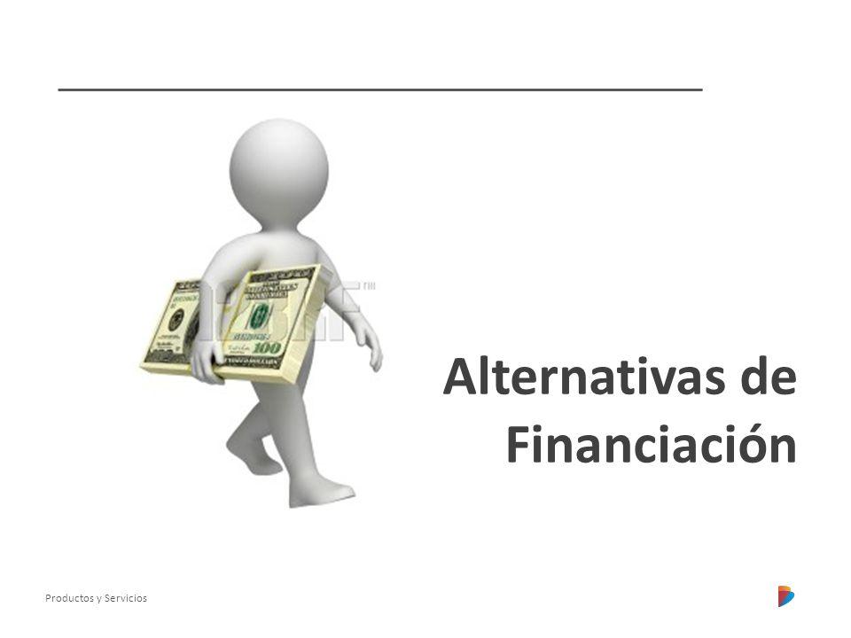 Productos y Servicios Alternativas de Financiación