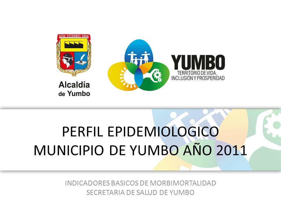 PERFIL EPIDEMIOLOGICO MUNICIPIO DE YUMBO AÑO 2011 INDICADORES BASICOS DE MORBIMORTALIDAD SECRETARIA DE SALUD DE YUMBO