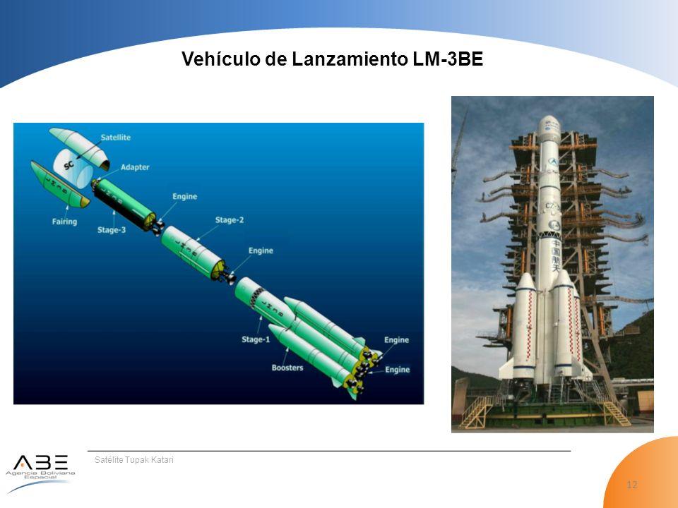 12 Satélite Tupak Katari Vehículo de Lanzamiento LM-3BE