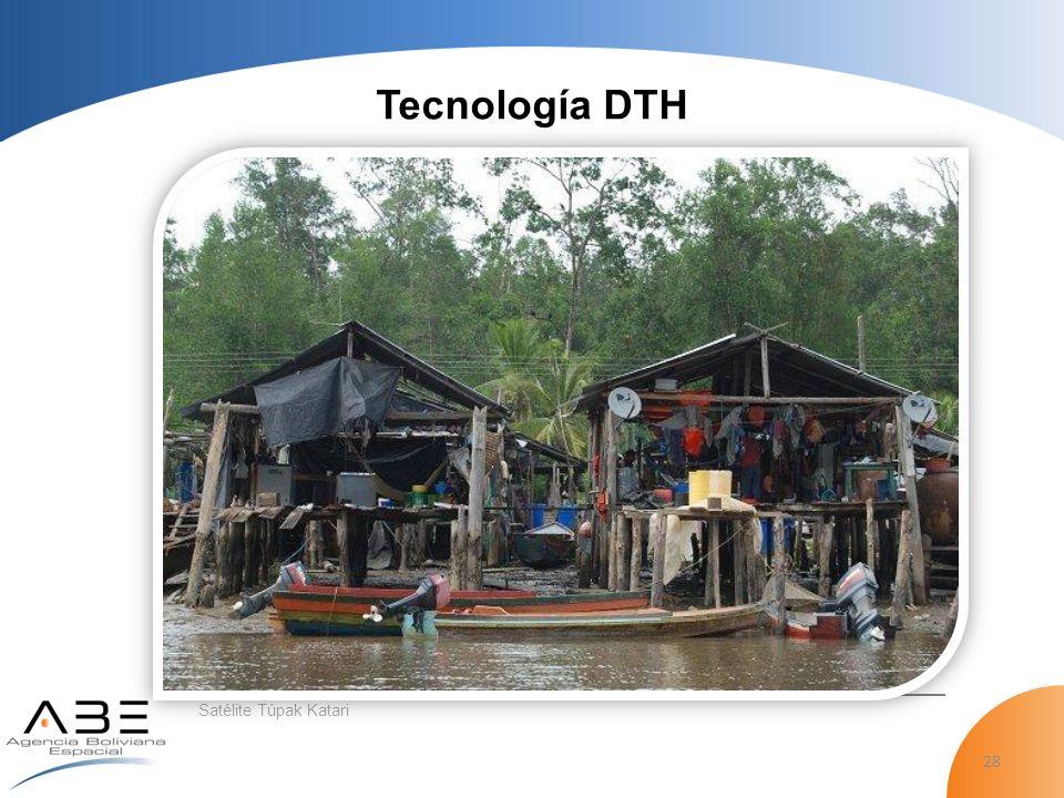 28 Satélite Túpak Katari Tecnología DTH