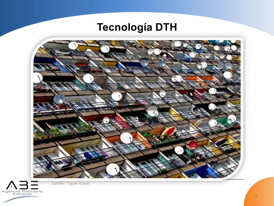 29 Satélite Túpak Katari Tecnología DTH