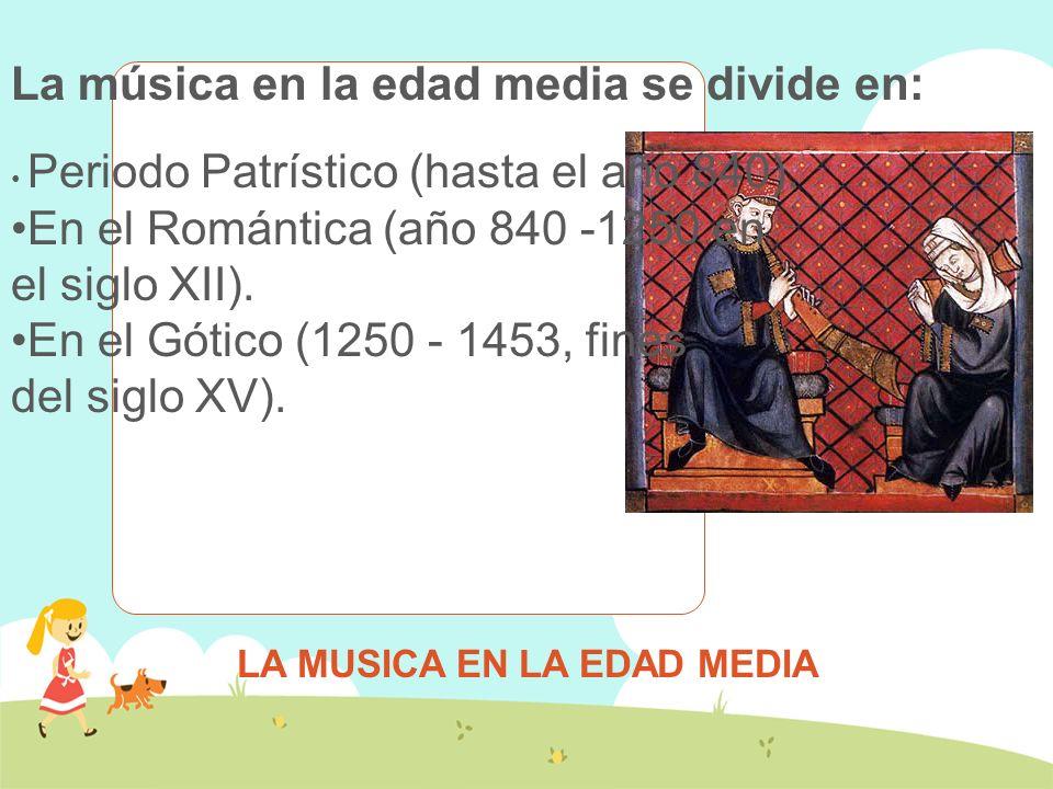 MUSICA EN EDAD MEDIA En el año 374 a 397 San Ambrosio reunió aquellos signos que debían ser aceptados en un credo antifonario naciendo así el Canto Ambrosiano.