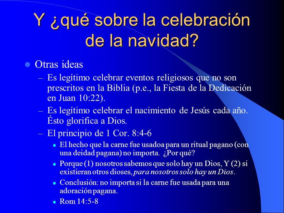 Y ¿qué sobre la celebración de la navidad.