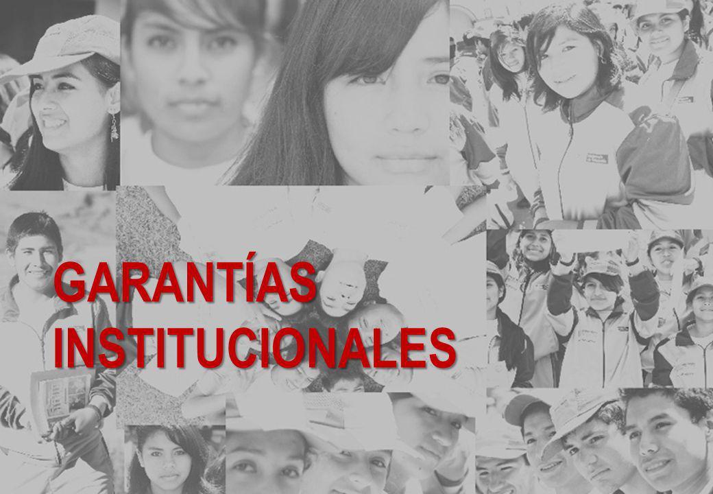 GARANTÍAS INSTITUCIONALES