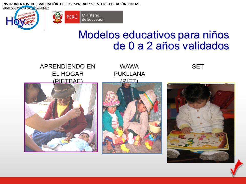 PROGRAMA INTEGRAL DE EDUCACIÓN TEMPRANA (PIET) O WAWA PUKLLANA - Atiende a niños de 6 meses a 2 años.