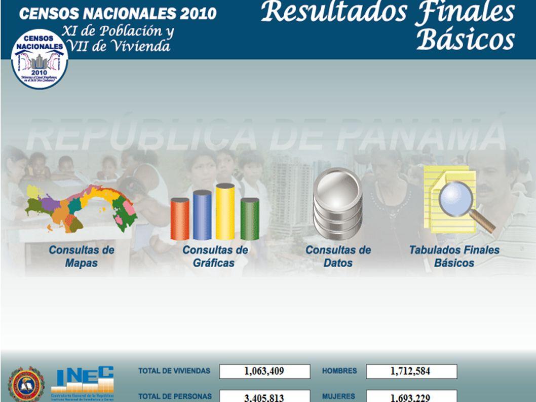Tasa Global de Fecundidad por Provincia y Comarcas.