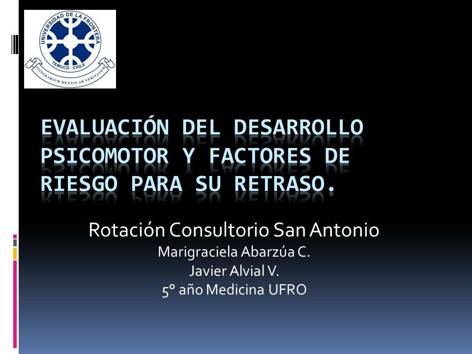 Rotación Consultorio San Antonio Marigraciela Abarzúa C. Javier Alvial V. 5° año Medicina UFRO
