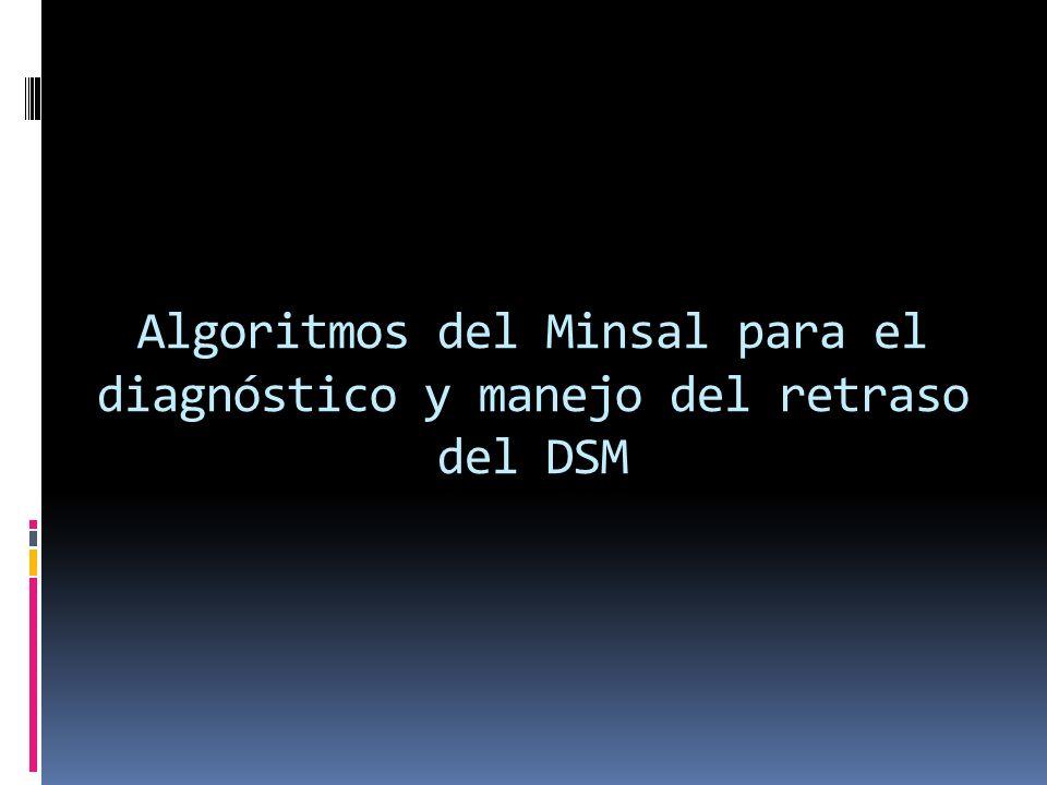 Algoritmos del Minsal para el diagnóstico y manejo del retraso del DSM