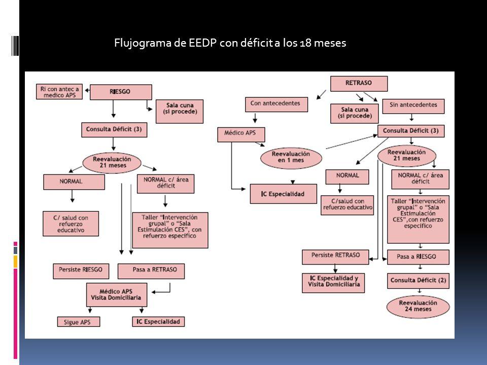 Flujograma de EEDP con déficit a los 18 meses