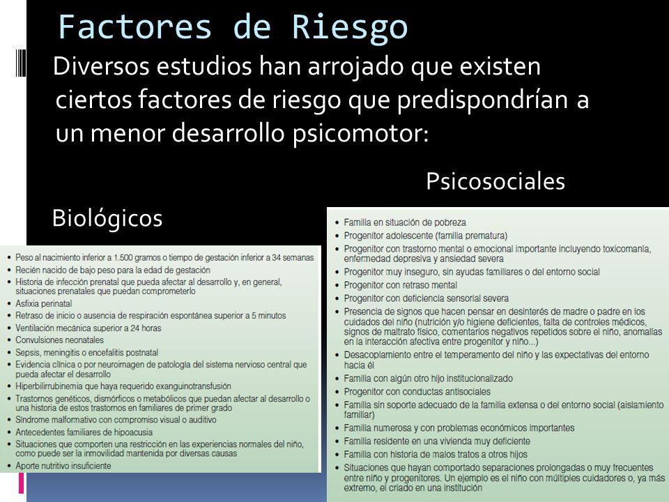 Factores Protectores Se han encontrado factores protectores del DP y se han propuesto tres categorías: 1.