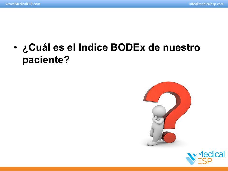 ¿Cuál es el Indice BODEx de nuestro paciente?