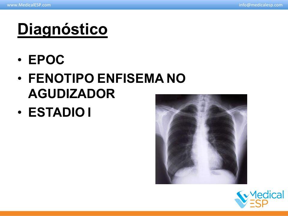 Diagnóstico EPOC FENOTIPO ENFISEMA NO AGUDIZADOR ESTADIO I