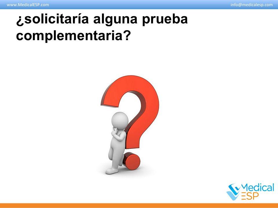 Pruebas complementarias Analítica: hemograma, bioquímica (pruebas hepáticas), alfa-1 antitripsina: Normales.
