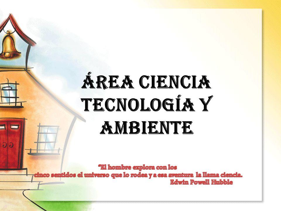 ÁREA CIENCIA TECNOLOGÍA Y AMBIENTE