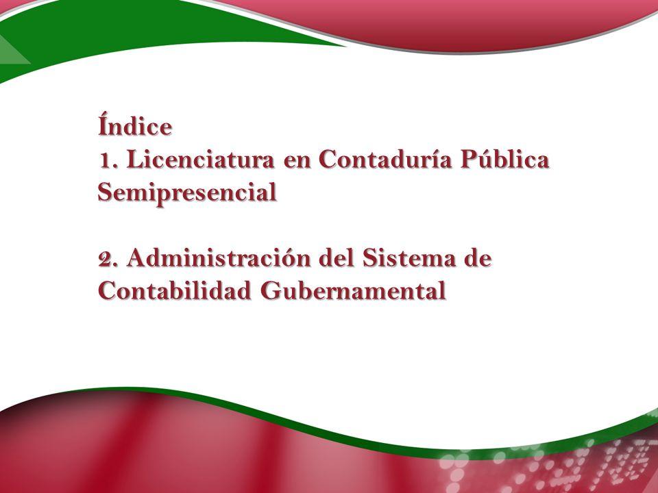 Índice 1. Licenciatura en Contaduría Pública Semipresencial 2.