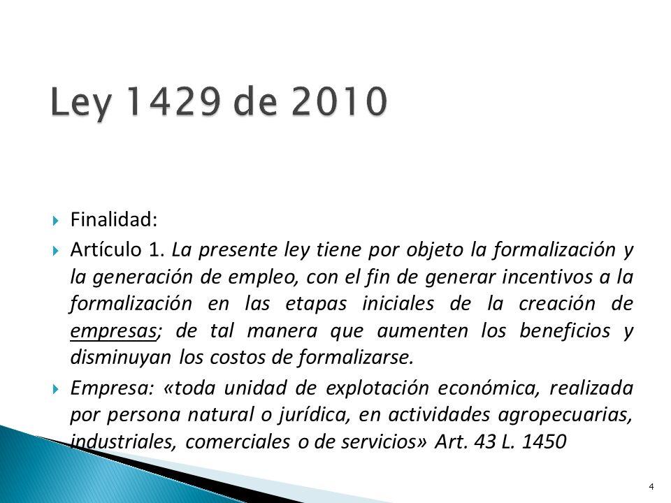 Finalidad: Artículo 1.