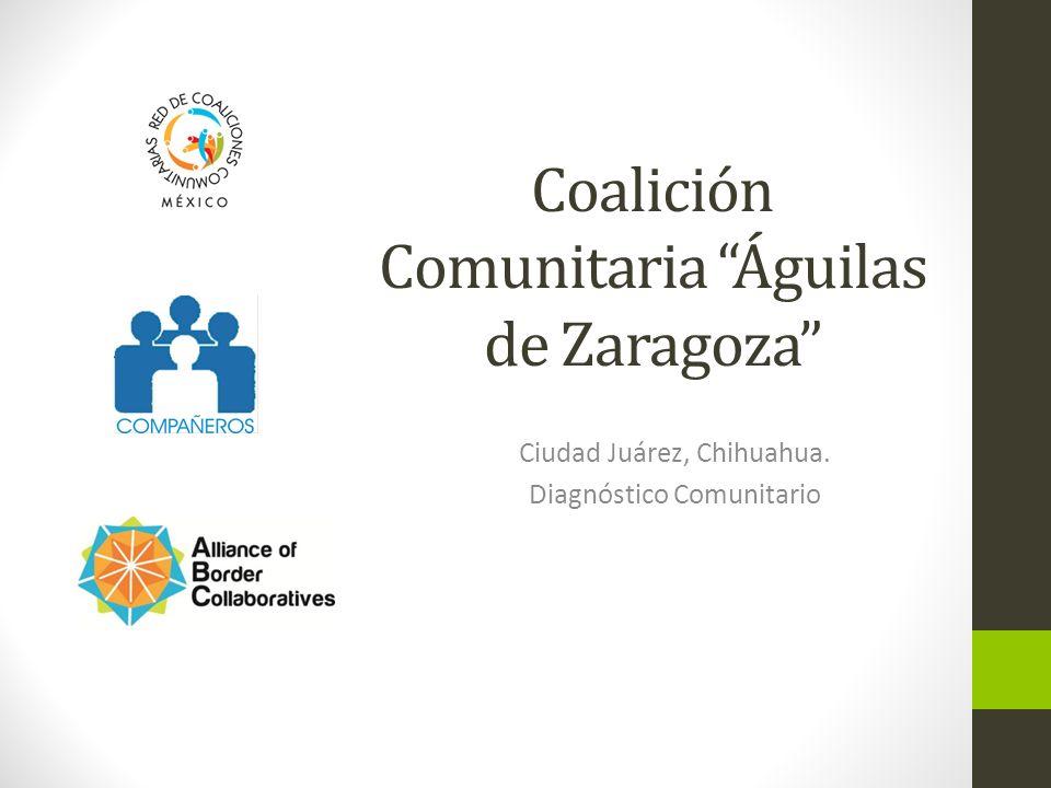 Coalición Comunitaria Águilas de Zaragoza Ciudad Juárez, Chihuahua. Diagnóstico Comunitario