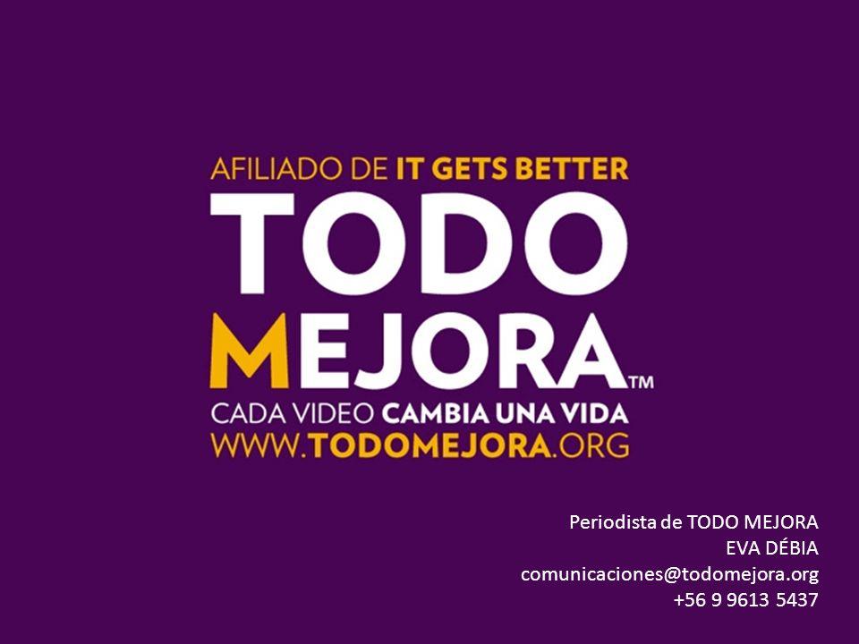 Periodista de TODO MEJORA EVA DÉBIA comunicaciones@todomejora.org +56 9 9613 5437