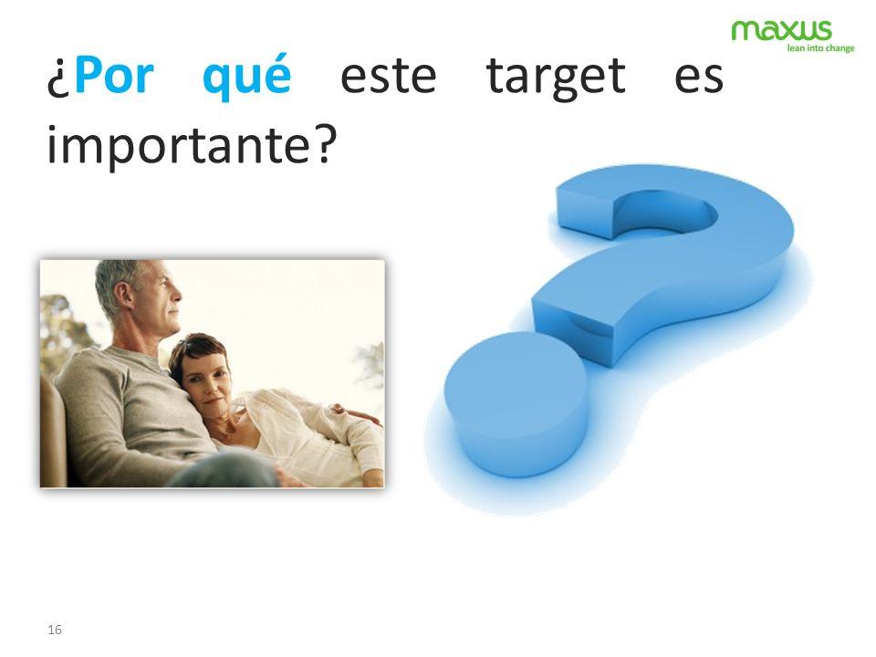 16 ¿Por qué este target es importante?