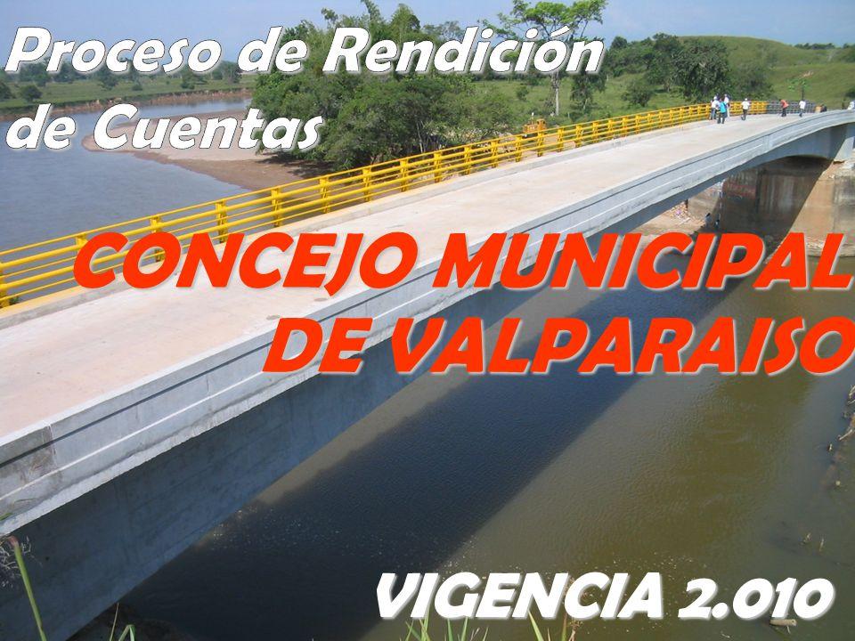DE VALPARAISO VIGENCIA 2.010