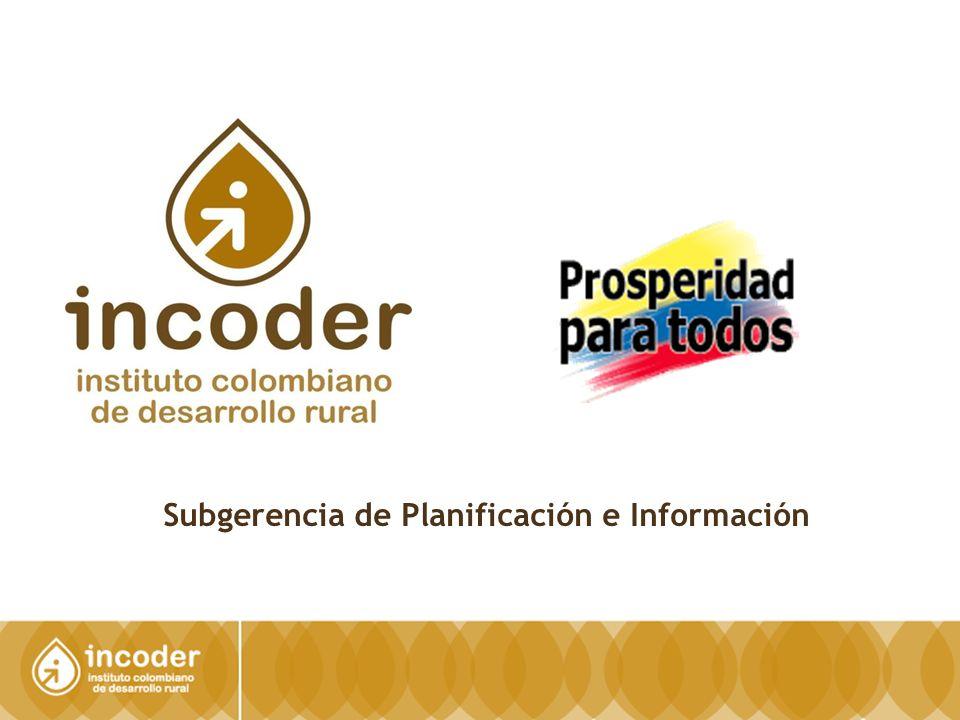 2 SUBGERENCIA DE PLANIFICACIÓN E INFORMACIÓN