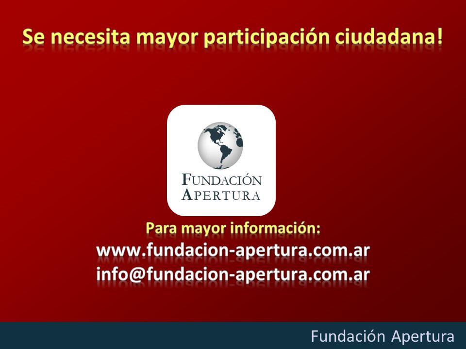 Diciembre - 2009 Fundación Apertura