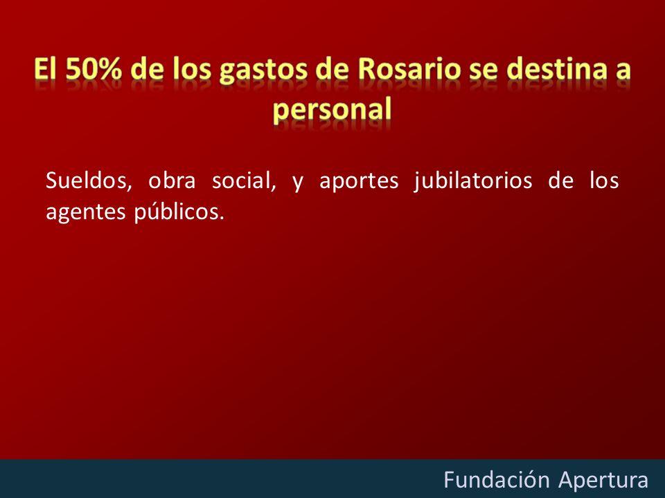 Diciembre - 2009 Fundación Apertura Sueldos, obra social, y aportes jubilatorios de los agentes públicos.