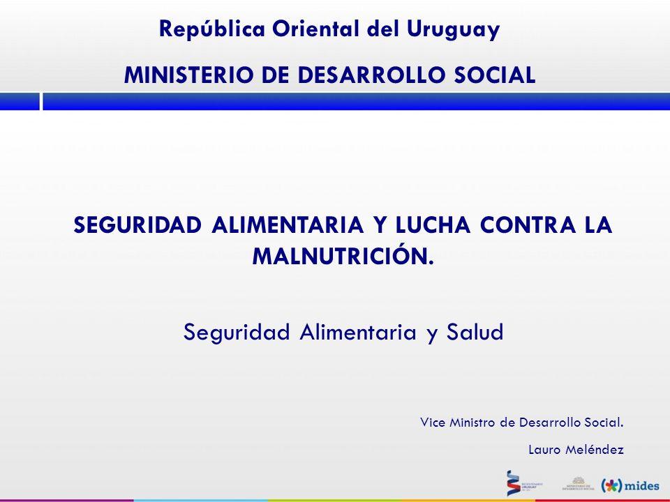 PERFIL DE CONSUMO IV.Políticas de Seguridad Alimentaria y Salud.