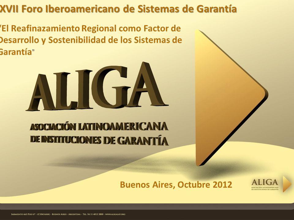 Buenos Aires, Octubre 2012 XVII Foro Iberoamericano de Sistemas de Garantía El Reafinazamiento Regional como Factor de Desarrollo y Sostenibilidad de los Sistemas de Garantía