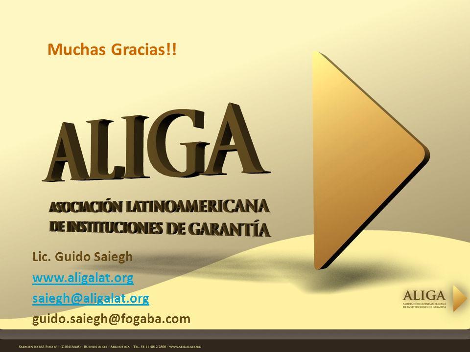Lic. Guido Saiegh www.aligalat.org saiegh@aligalat.org guido.saiegh@fogaba.com Muchas Gracias!!