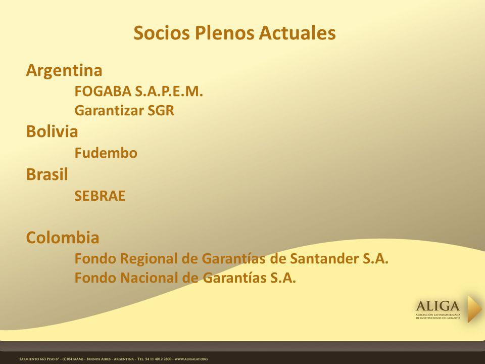 Socios Plenos Actuales Argentina FOGABA S.A.P.E.M.