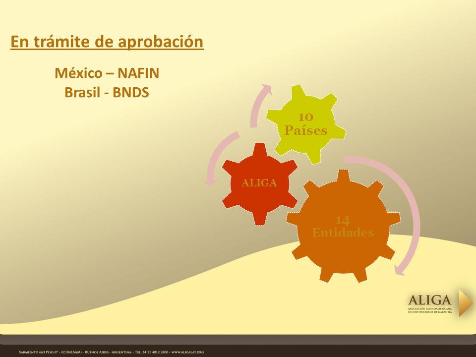 En trámite de aprobación México – NAFIN Brasil - BNDS 14 Entidades ALIGA 10 Países